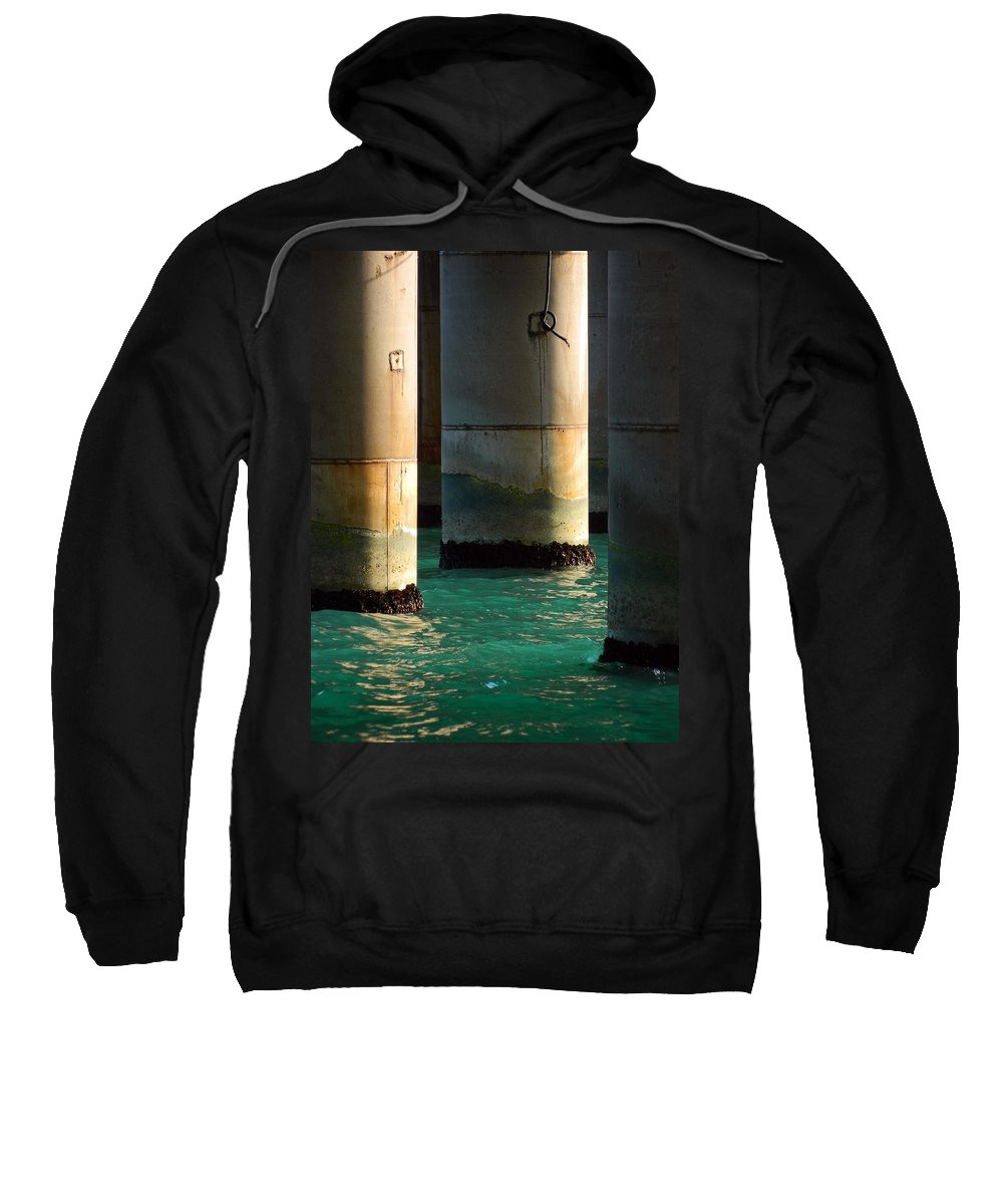Blue Sweatshirt featuring the photograph Deep Water by Valentin Emmanouilidis