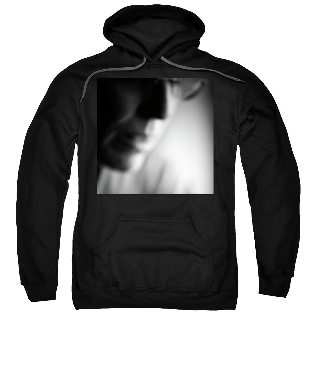 50-54 Years Sweatshirt featuring the photograph Defocused Side View Close Up Portrait by Ron Koeberer