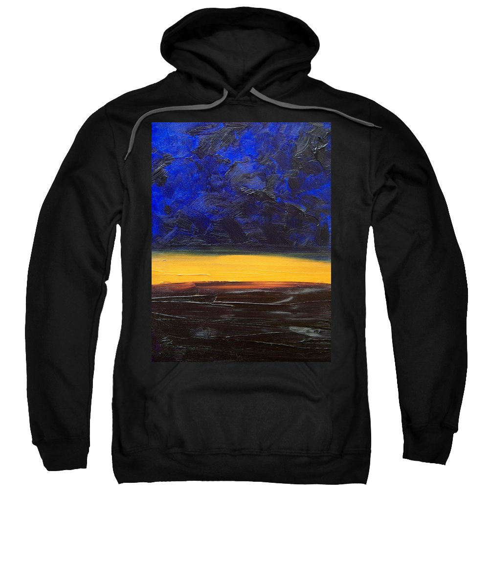 Landscape Sweatshirt featuring the painting Desert Plains by Sergey Bezhinets