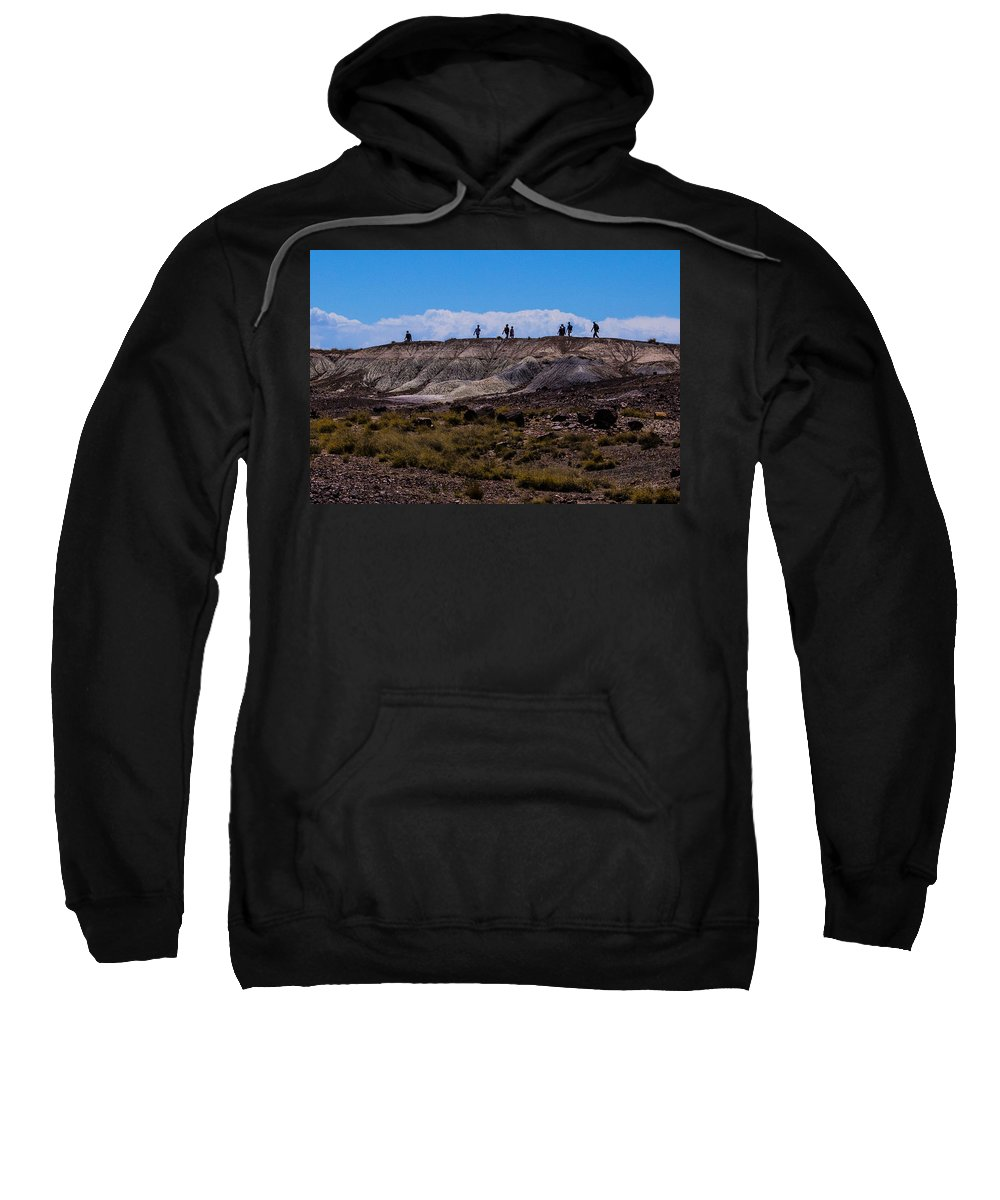 Route 66 Sweatshirt featuring the photograph Desert Tourists by Angus Hooper Iii