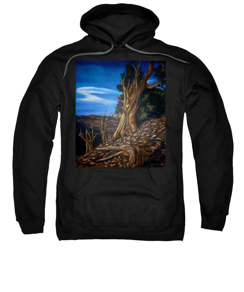 Desert Sweatshirt featuring the painting Desert Tree by Bryan Bustard