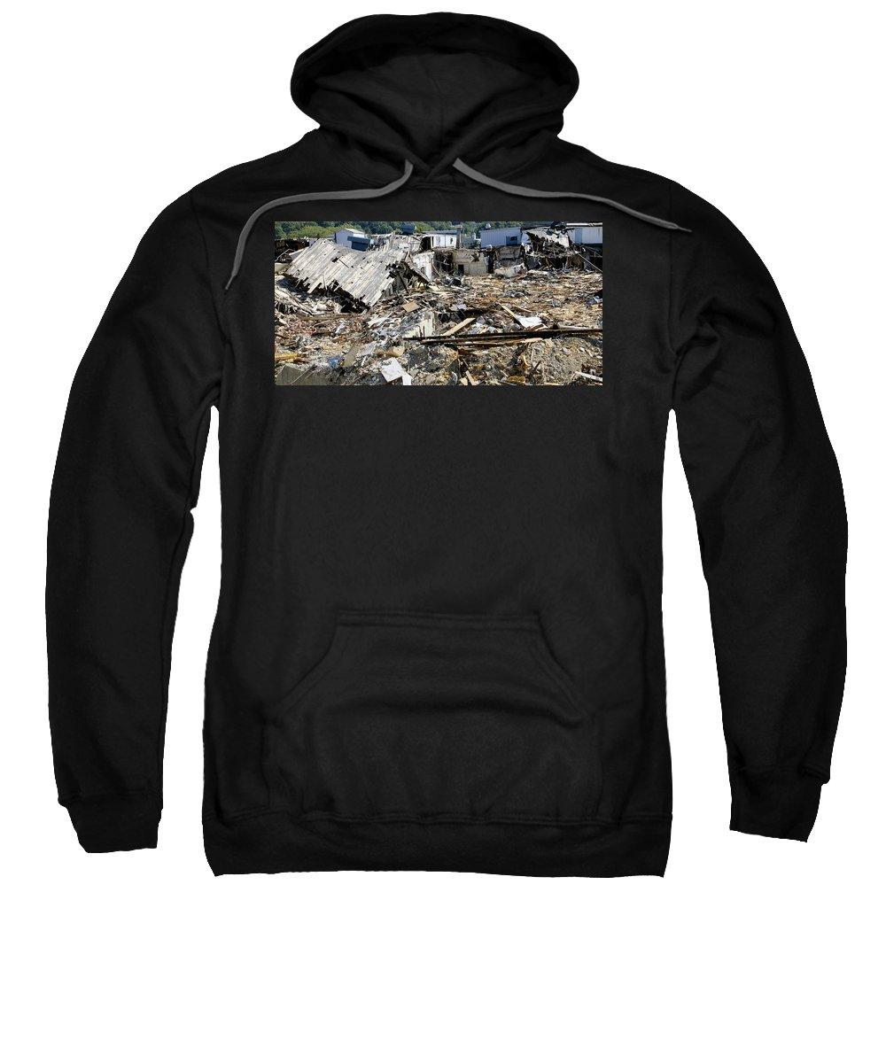 Rubble Sweatshirt featuring the photograph Destruction by Bob Slitzan