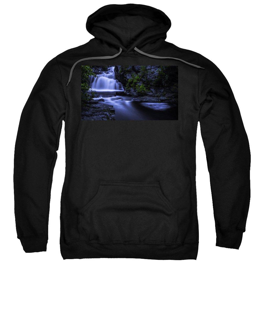 Waterfall Sweatshirt featuring the photograph Devil's Hopyard Waterfall by Billy Bateman