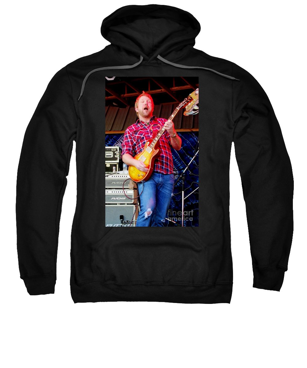 Music Sweatshirt featuring the photograph Devon Allman by Angela Murray
