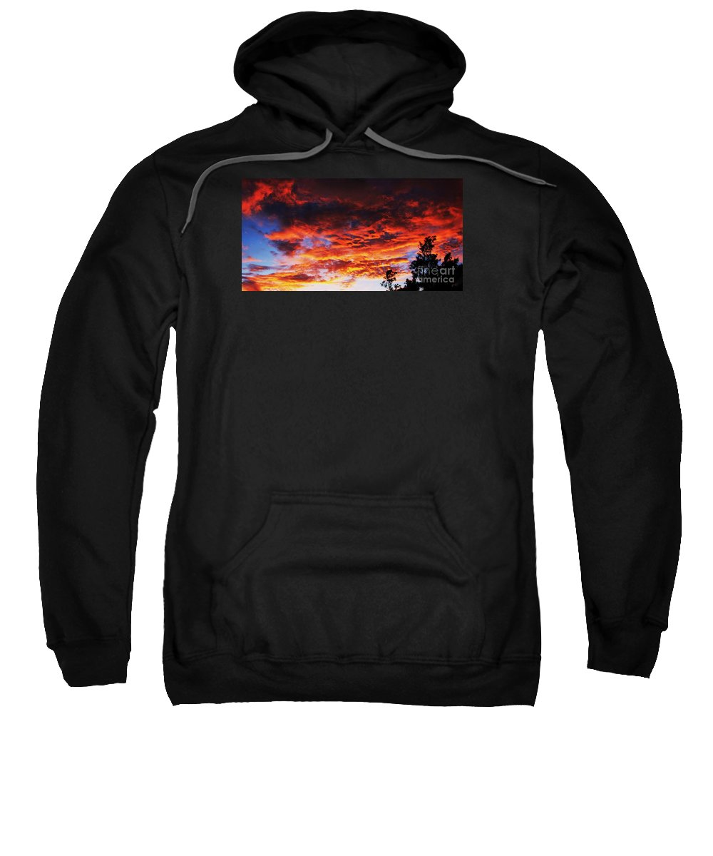 Bermuda Clouds Sunset Dama Clouds Sky Night Nature Serene Photography Devonshire Bay Tree Outlines Panoramic Photography Published Photography Canvas Print Greeting Card Metal Frame Poster Print Available On T Shirts Tote Bags Shower Curtains Phone Cases And Duvet Covers Sweatshirt featuring the photograph Devonshire Bay Sunset by Marcus Dagan