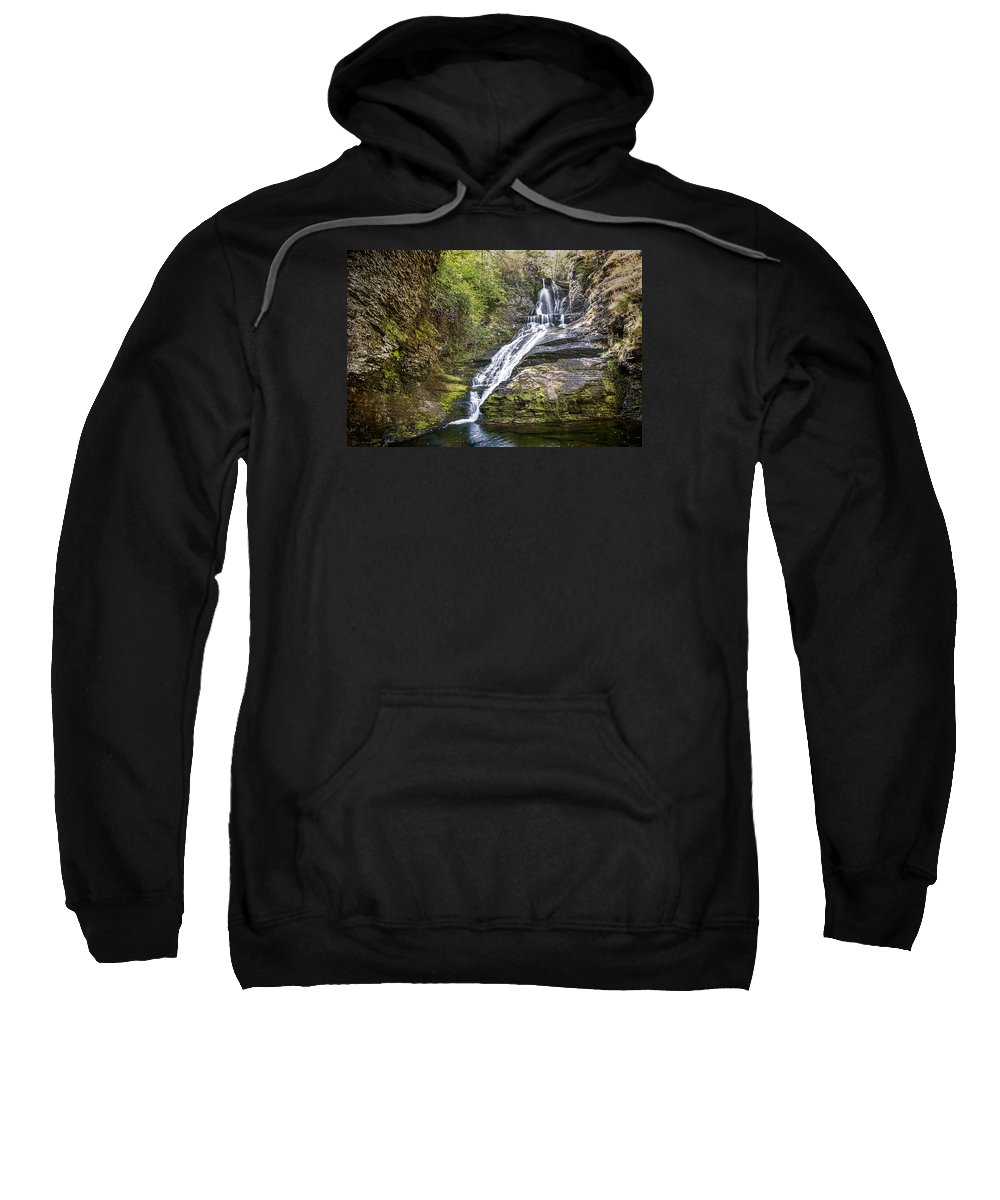 Attractive Sweatshirt featuring the photograph Dingmans Falls by Ray Summers Photography