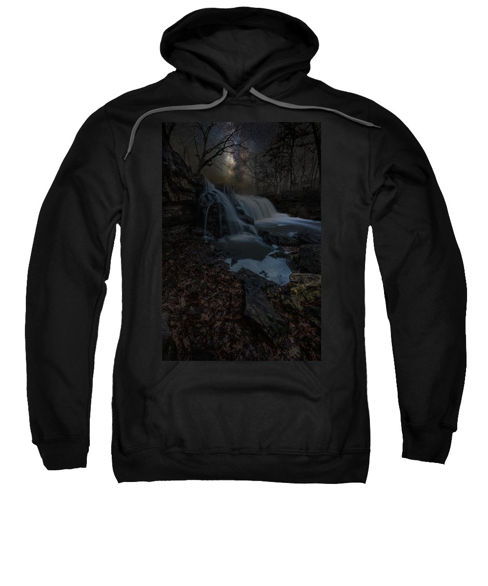 Milky Way Sweatshirt featuring the photograph Discover The Stars by Aaron J Groen