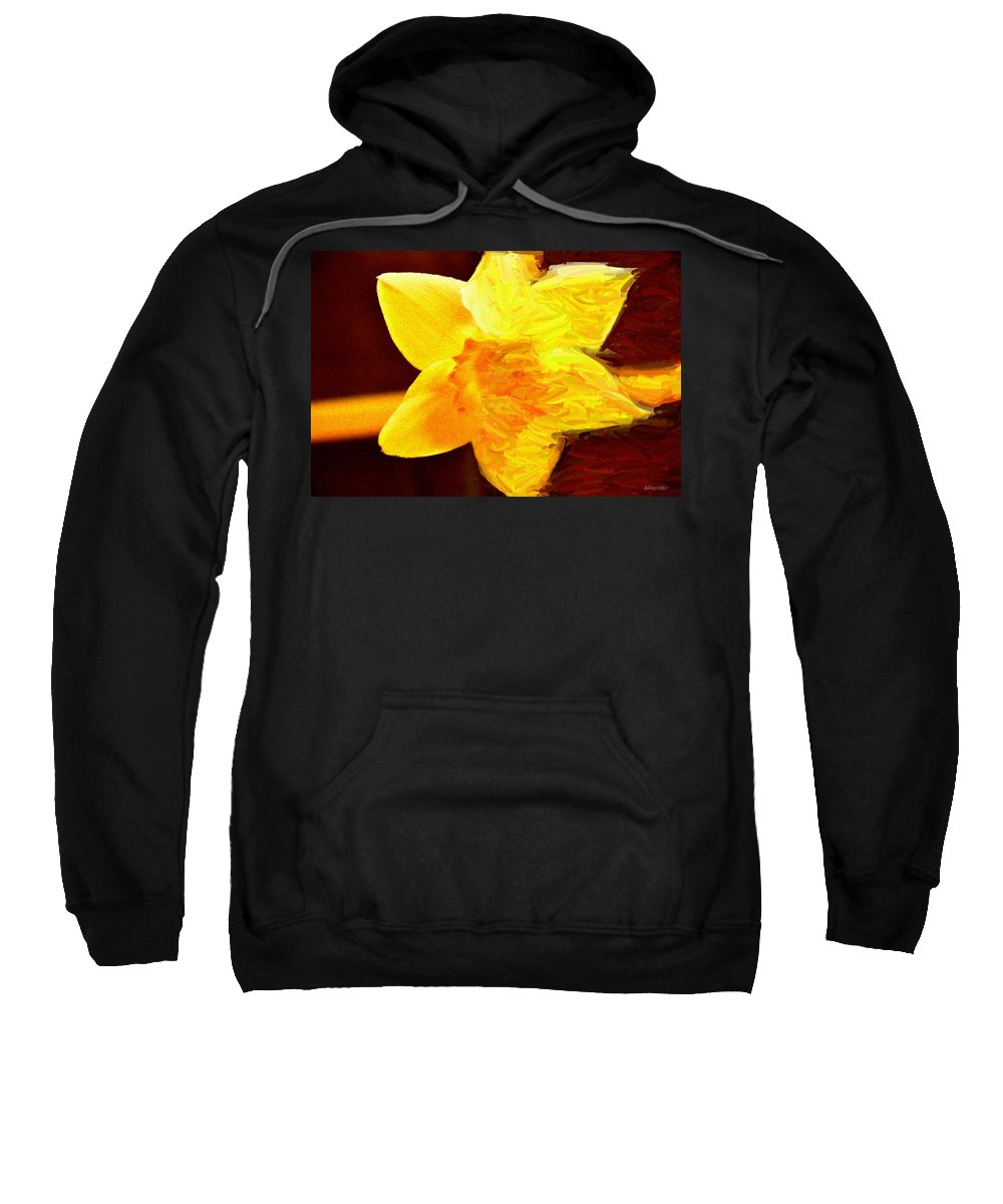 Bloom Sweatshirt featuring the painting Disintegration by Jeffrey Kolker