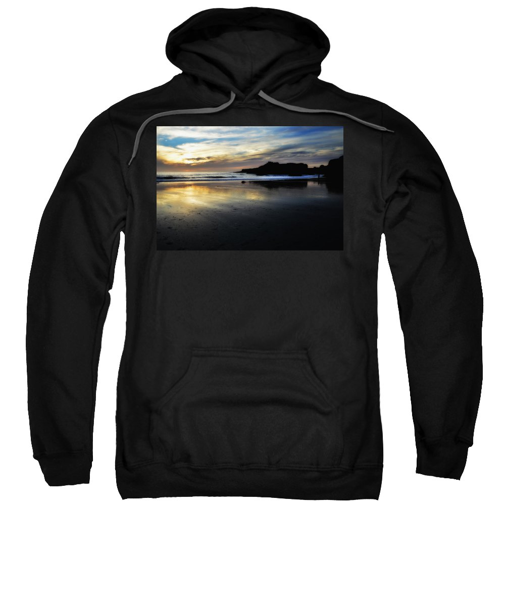 Shore Sweatshirt featuring the photograph Distant Shores by Donna Blackhall