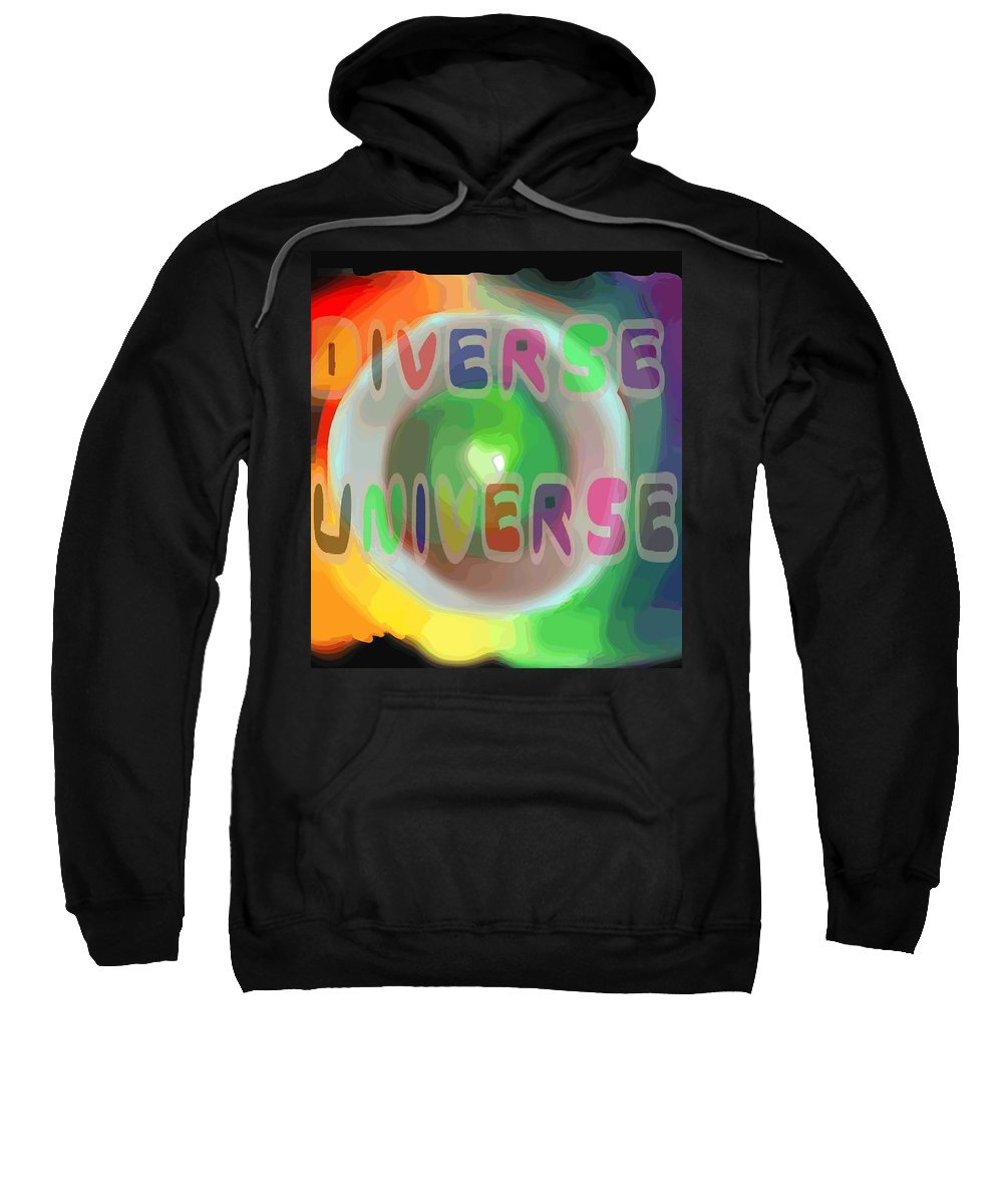 Diverse Sweatshirt featuring the painting Diverse Universe by Pharris Art