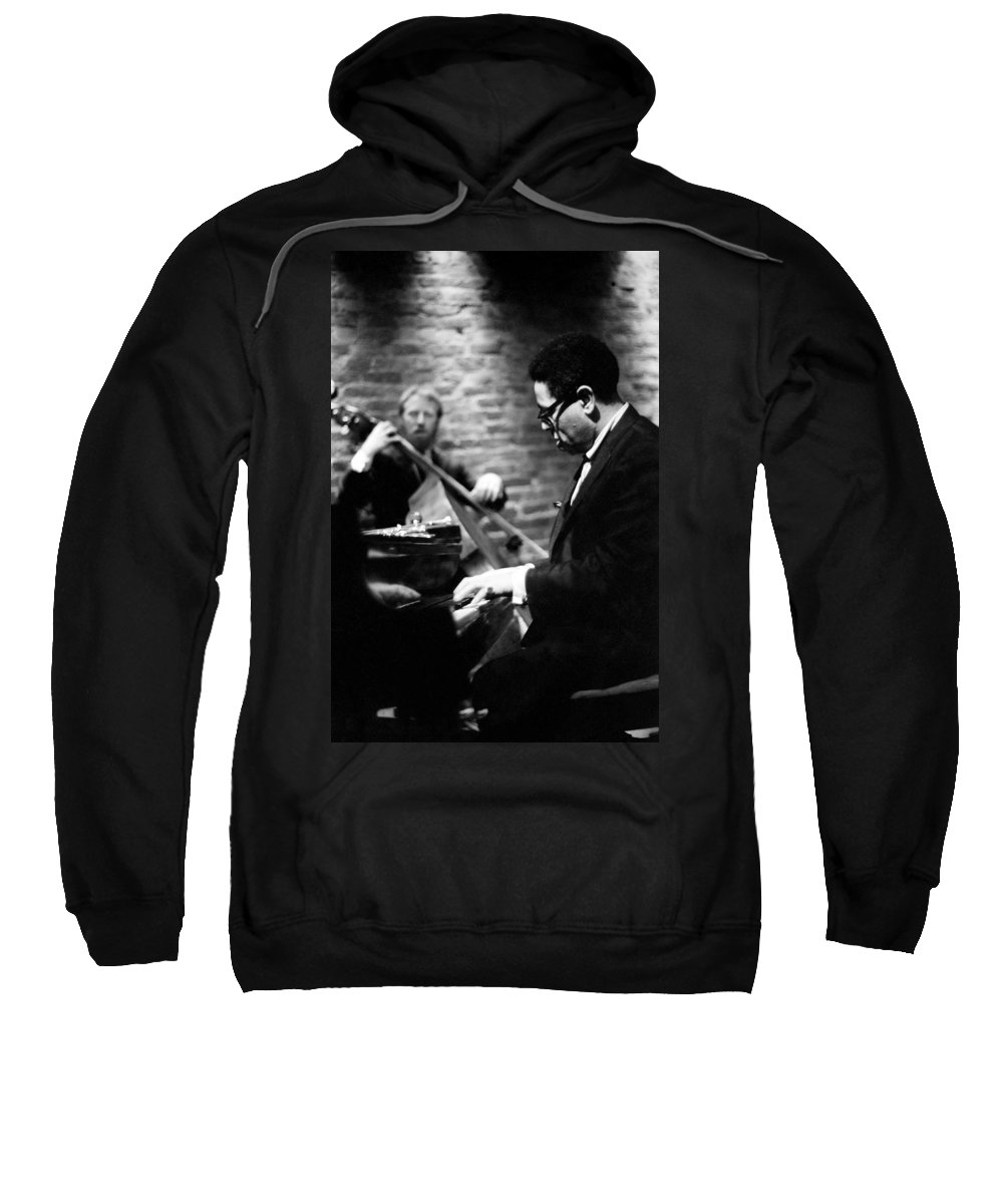Dizzy Sweatshirt featuring the photograph Dizzy On Piano by Dave Coleman