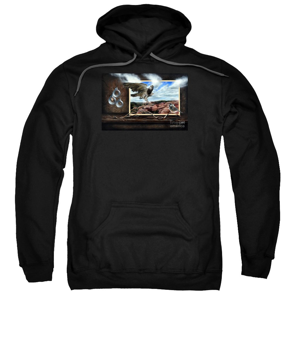 Surrealism Sweatshirt featuring the painting Don't Breathe by Lachri