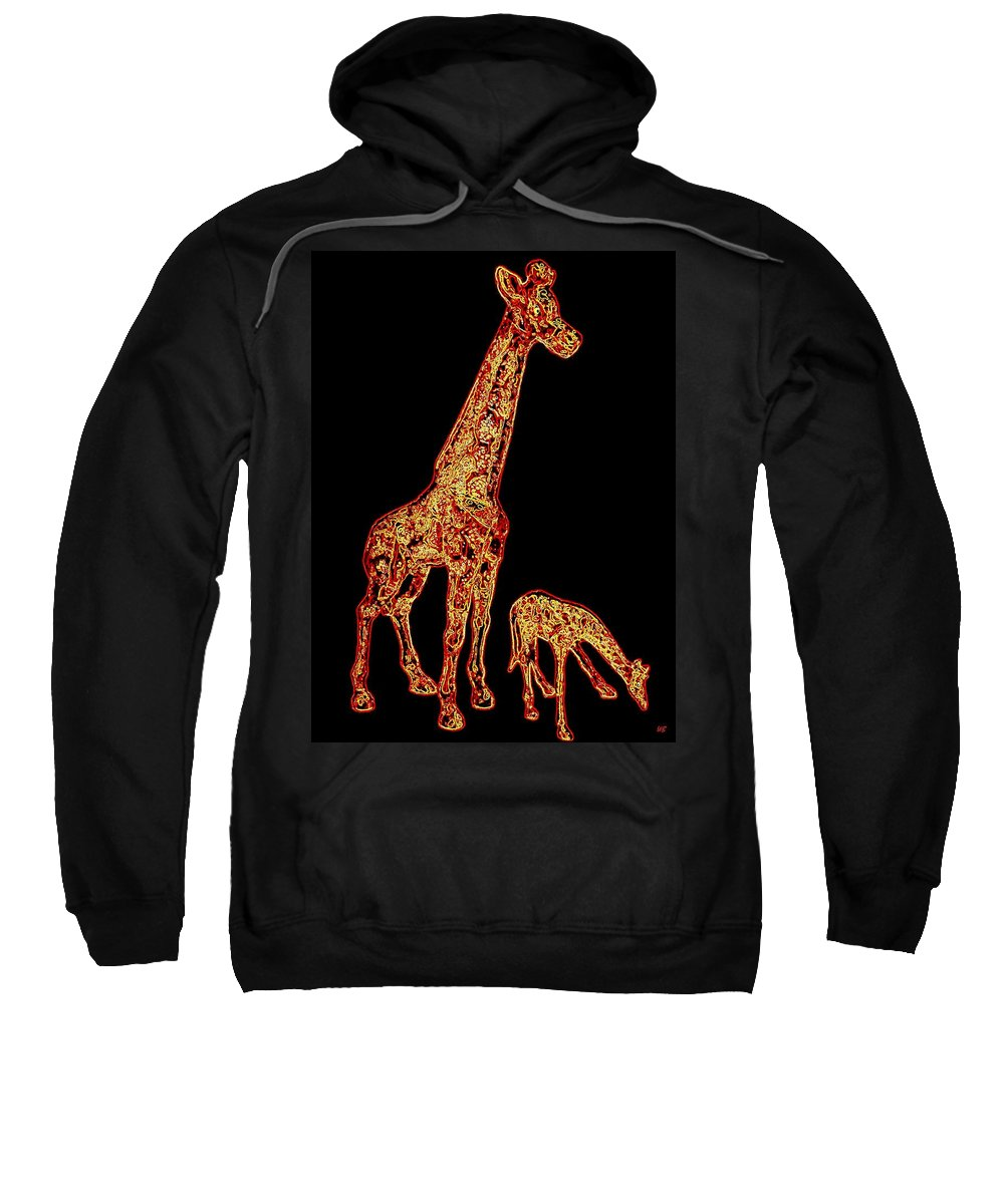 Don't Eat My Initials Sweatshirt featuring the digital art Don't Eat My Initials by Will Borden