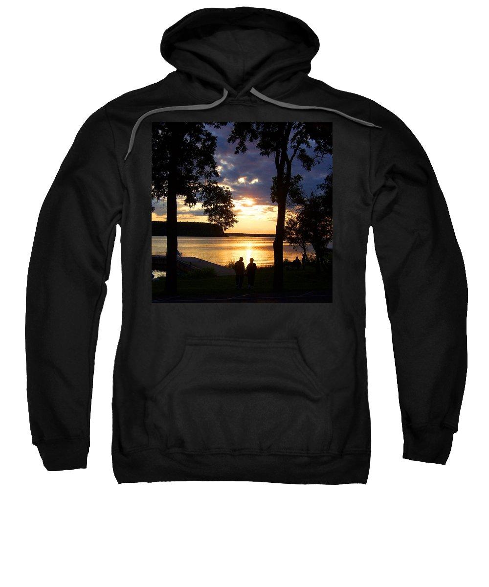 Sunset Sweatshirt featuring the photograph Door Peninsula Sunset by David T Wilkinson