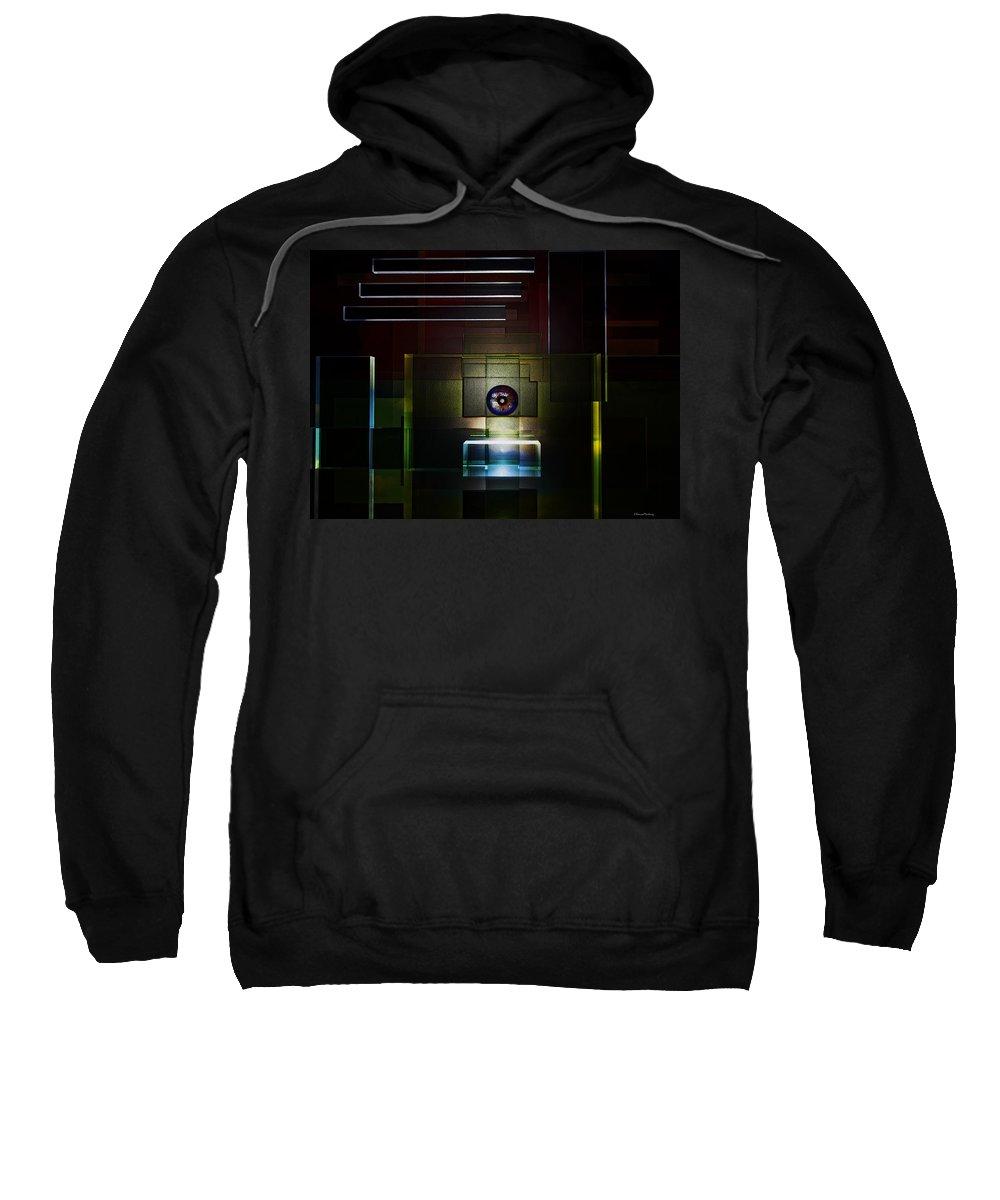 Door Sweatshirt featuring the digital art Door To The Sky by Ramon Martinez