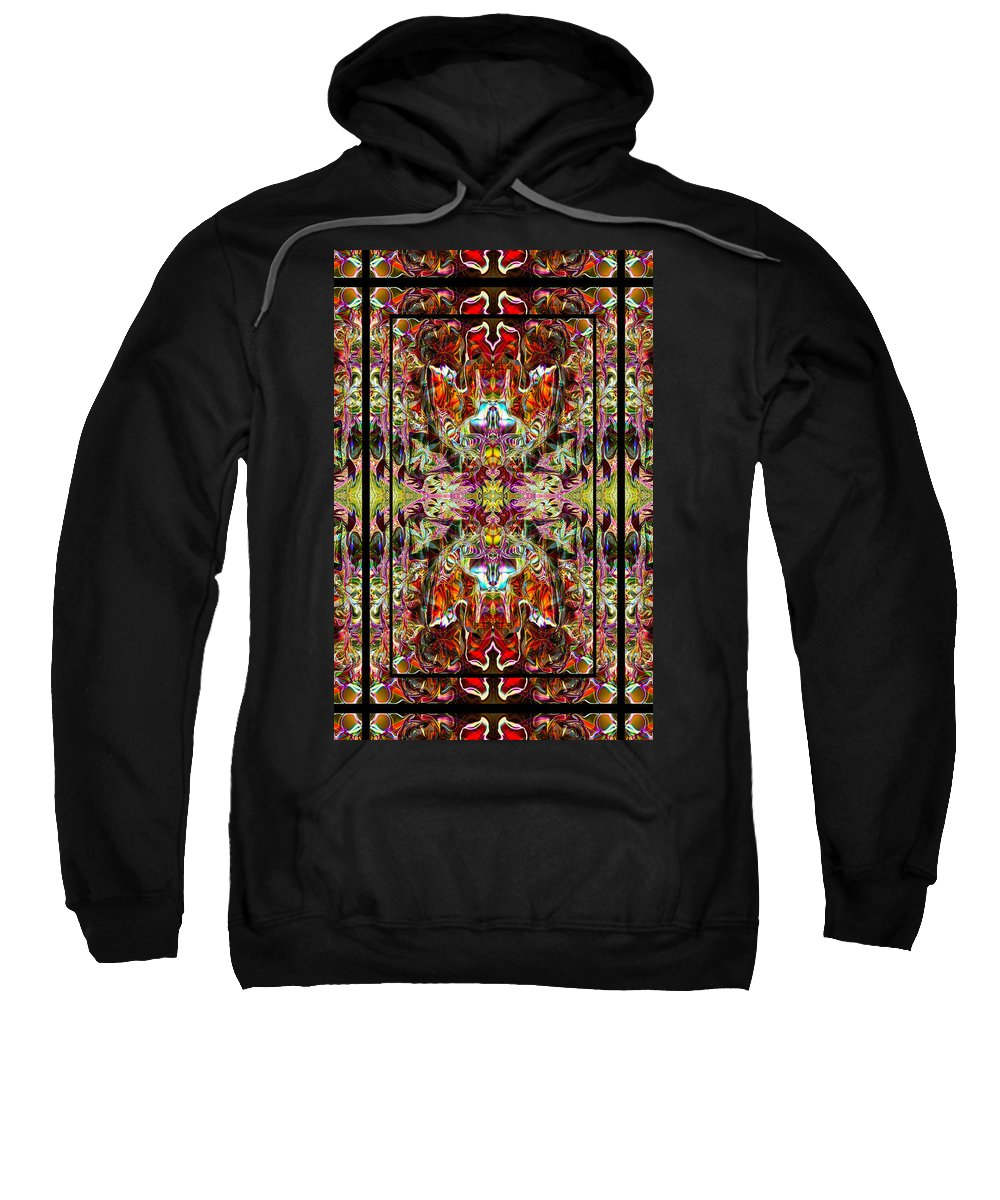 Yoga Sweatshirt featuring the photograph Doorways Thru Sacred Bridge by Deprise Brescia