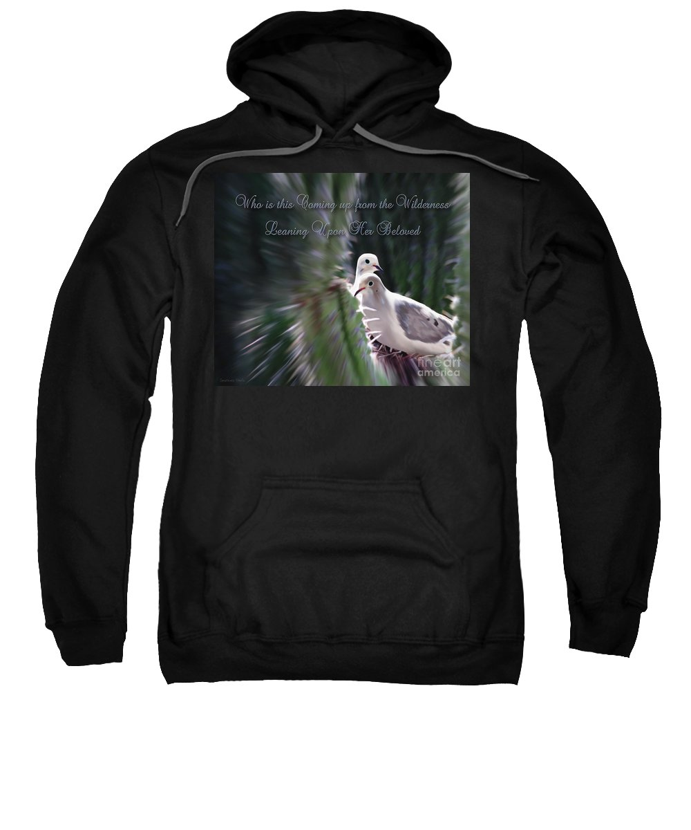 Birds Sweatshirt featuring the photograph Love Doves by Constance Woods