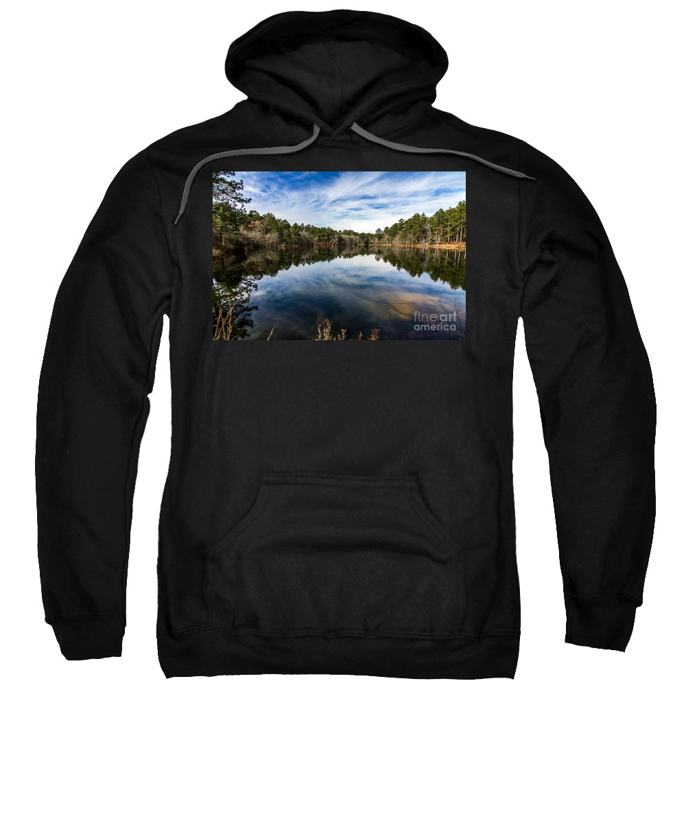 Lake Sweatshirt featuring the photograph Down The Lake by Ken Frischkorn