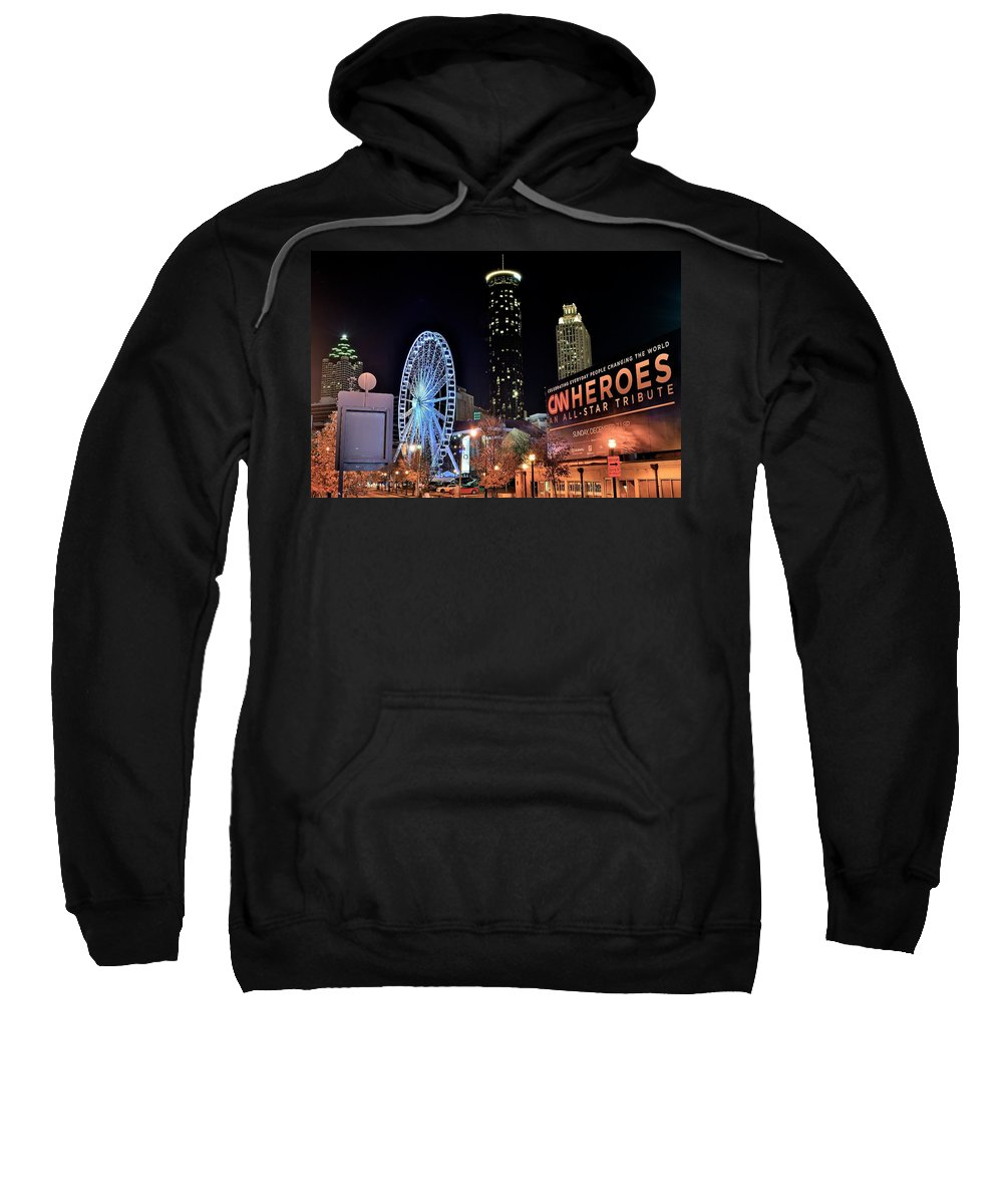 Atlanta Sweatshirt featuring the photograph Downtown Atlanta by Frozen in Time Fine Art Photography