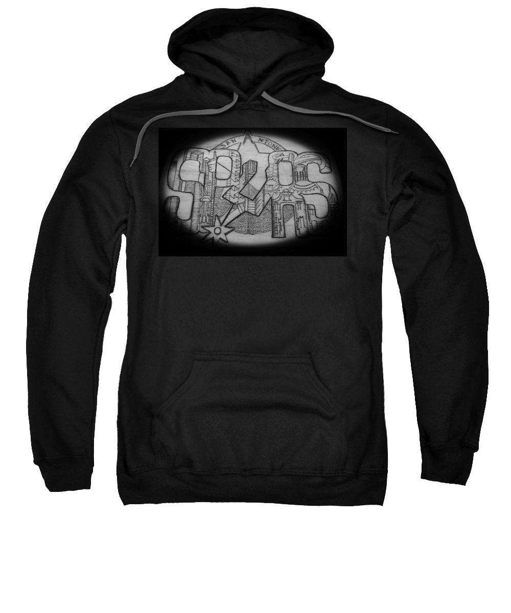 City Sweatshirt featuring the drawing Downtown by Bryan Oes