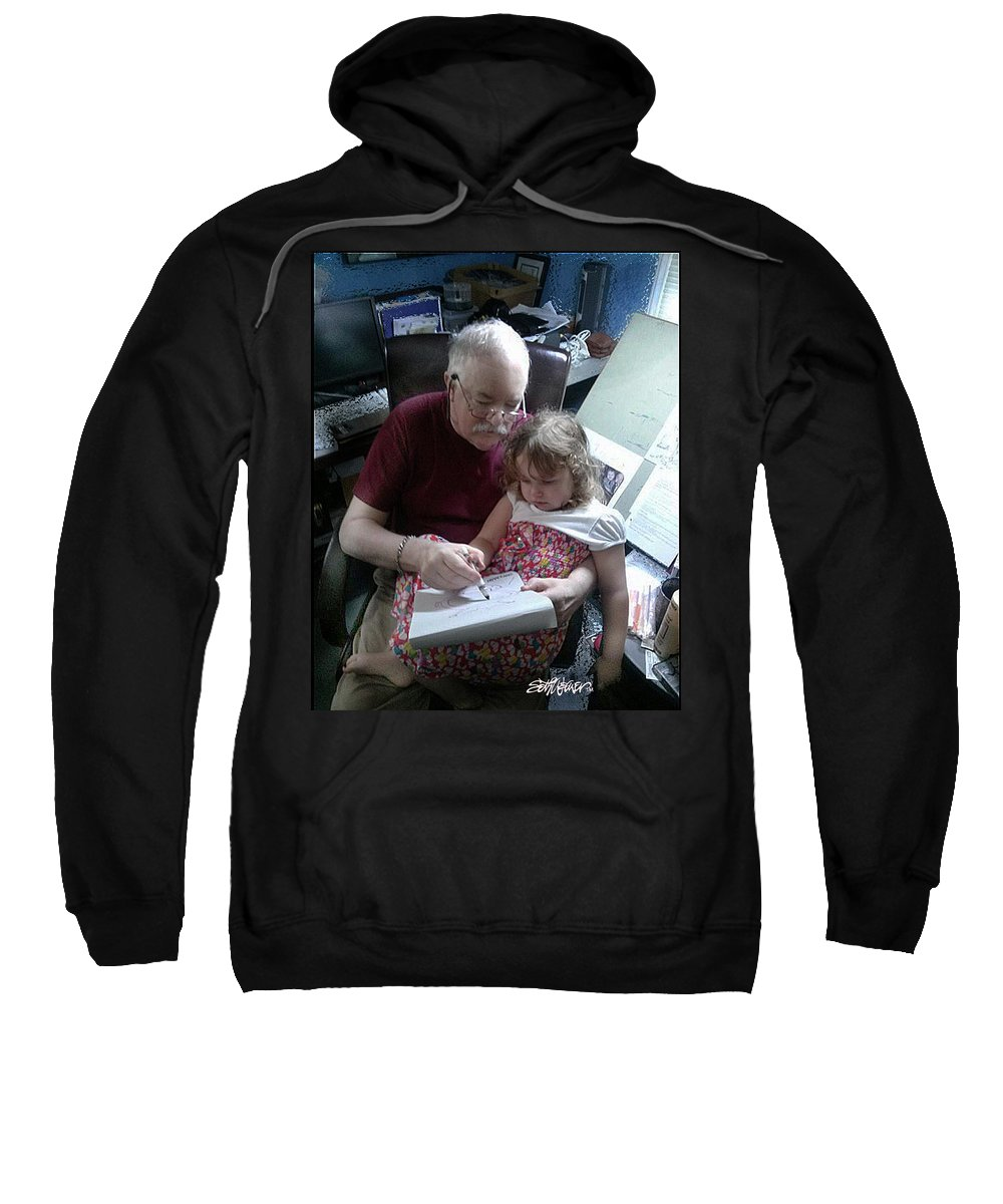 Drawing With Gracie Sweatshirt featuring the photograph Drawing With Gracie by Seth Weaver