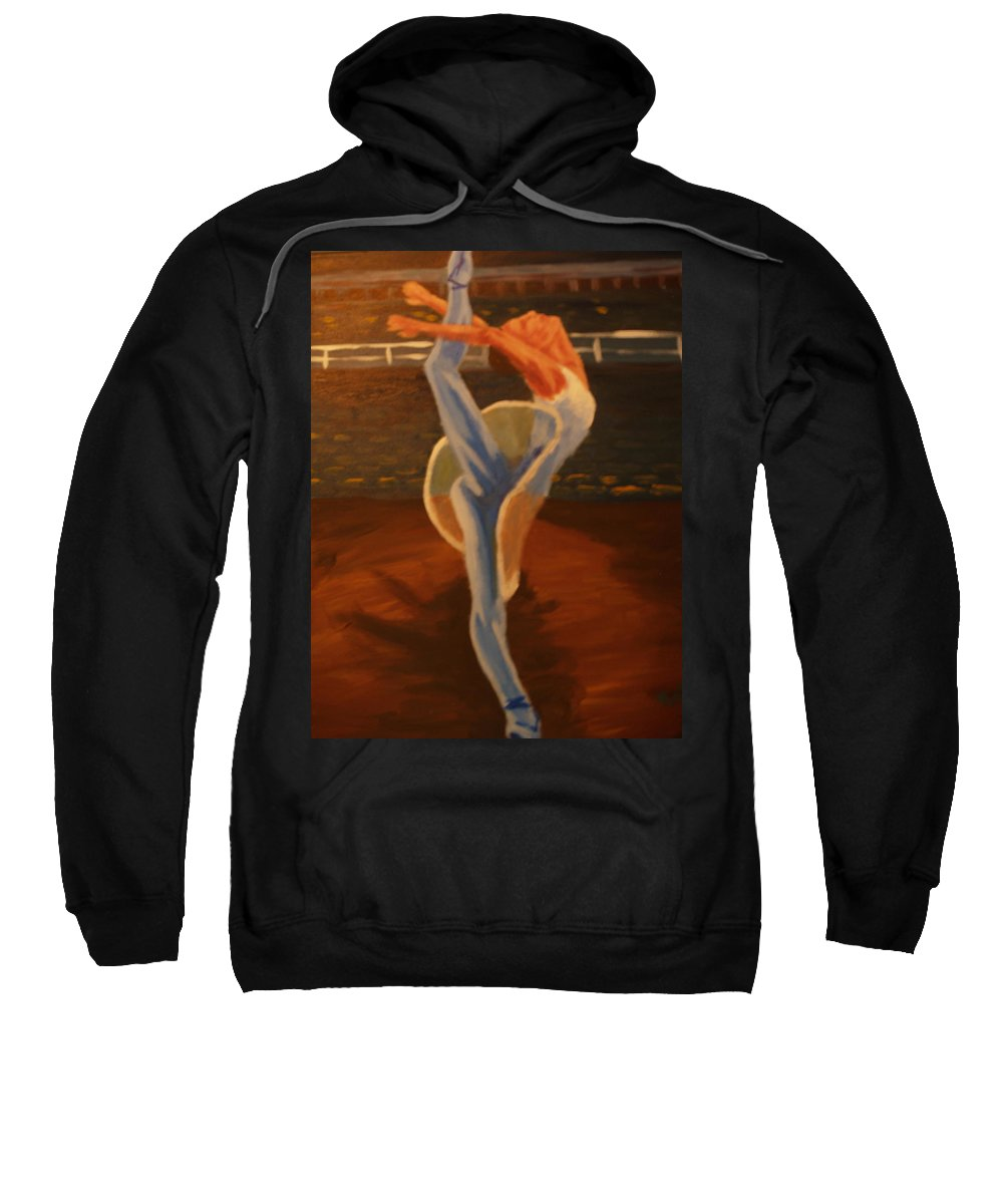 Dancer Sweatshirt featuring the painting Dress Rehearsal by David Rodden