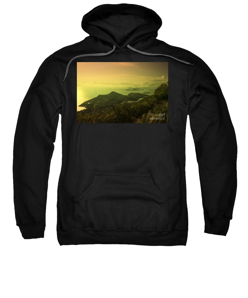 Dubrovnik Sweatshirt featuring the photograph Dubrovnik Islands by Rob Hawkins