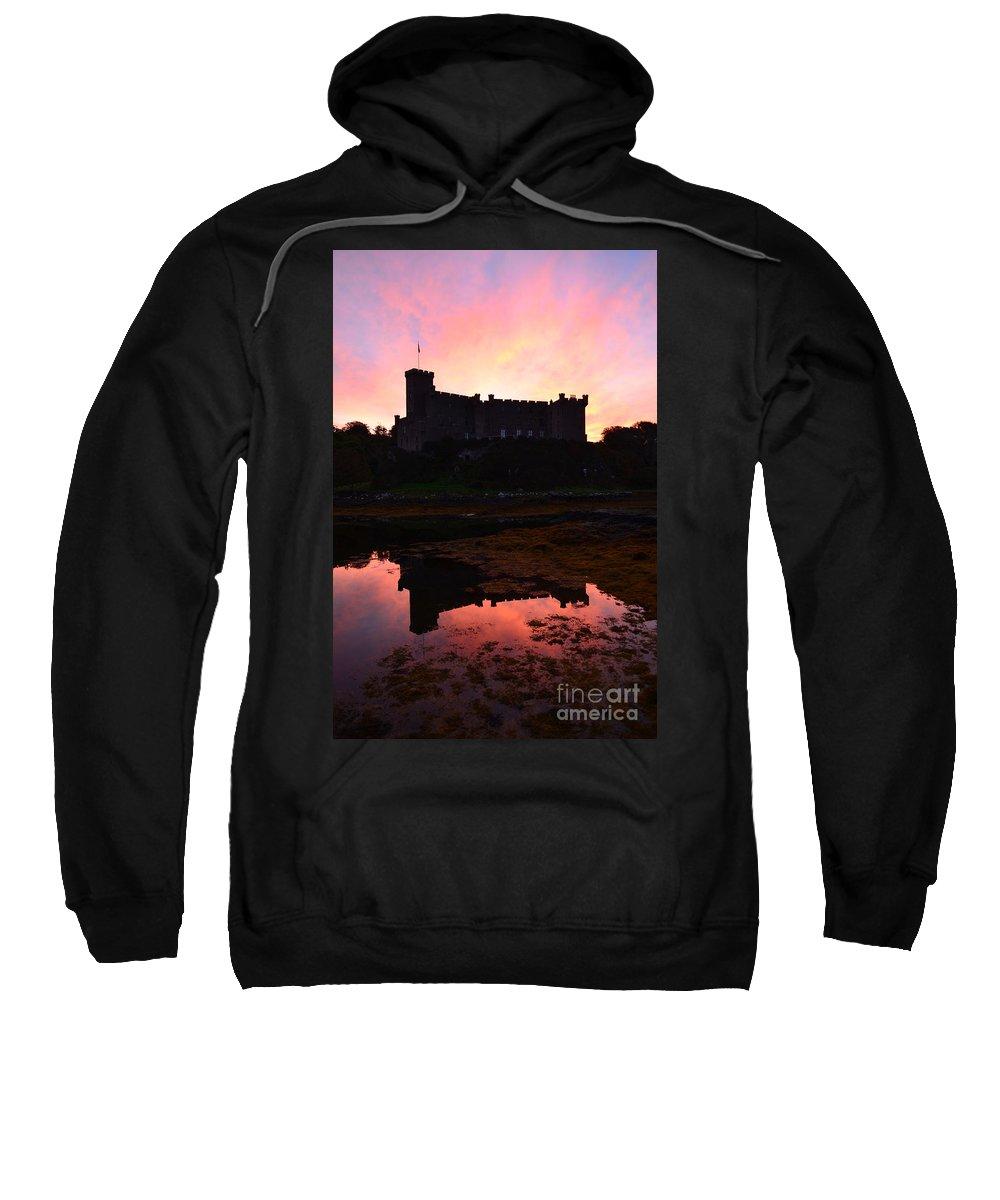 Dunvegan Sweatshirt featuring the photograph Dunvegan Castle At Dawn by DejaVu Designs