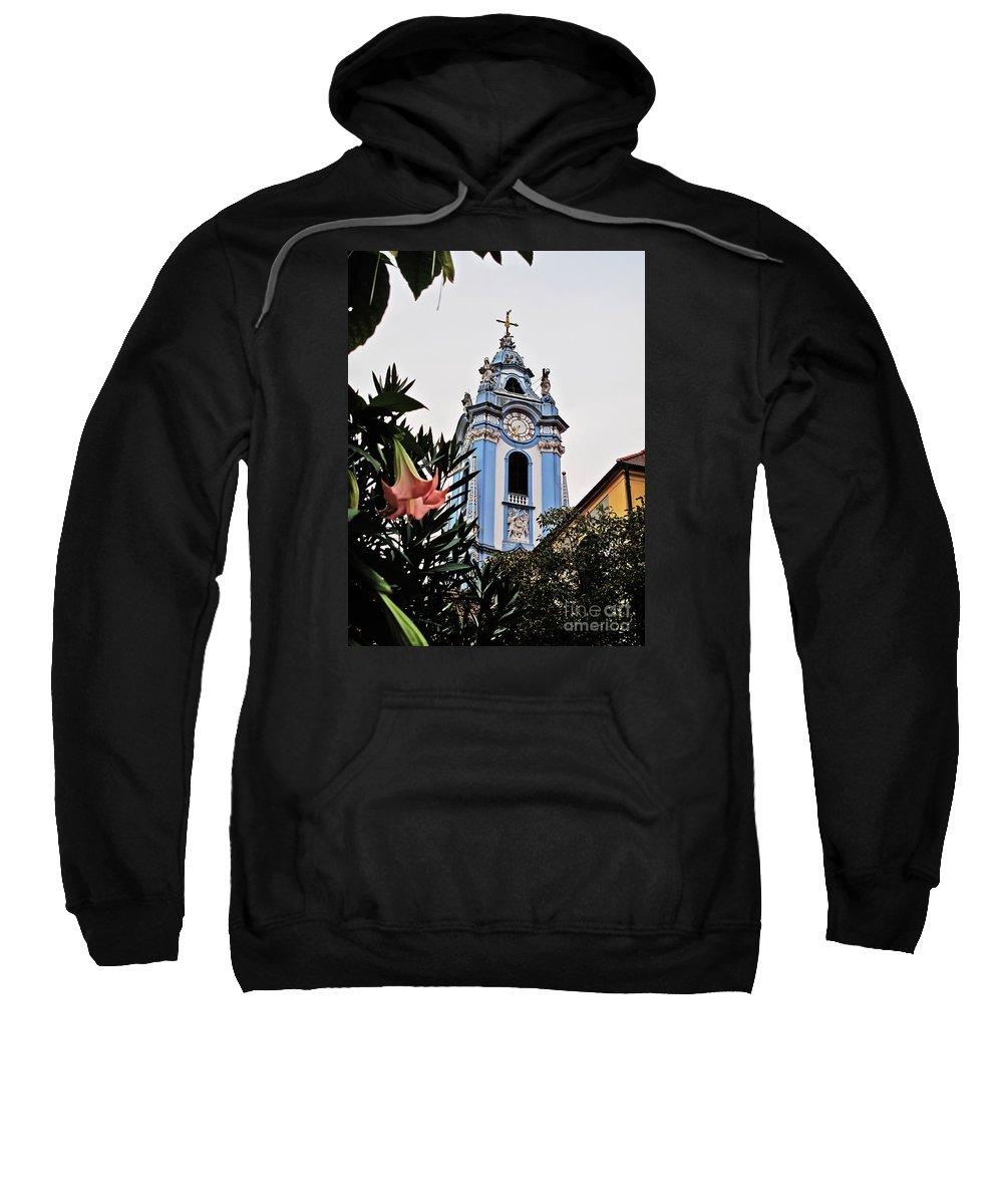 Travel Sweatshirt featuring the photograph Durnstein Parish Church by Elvis Vaughn