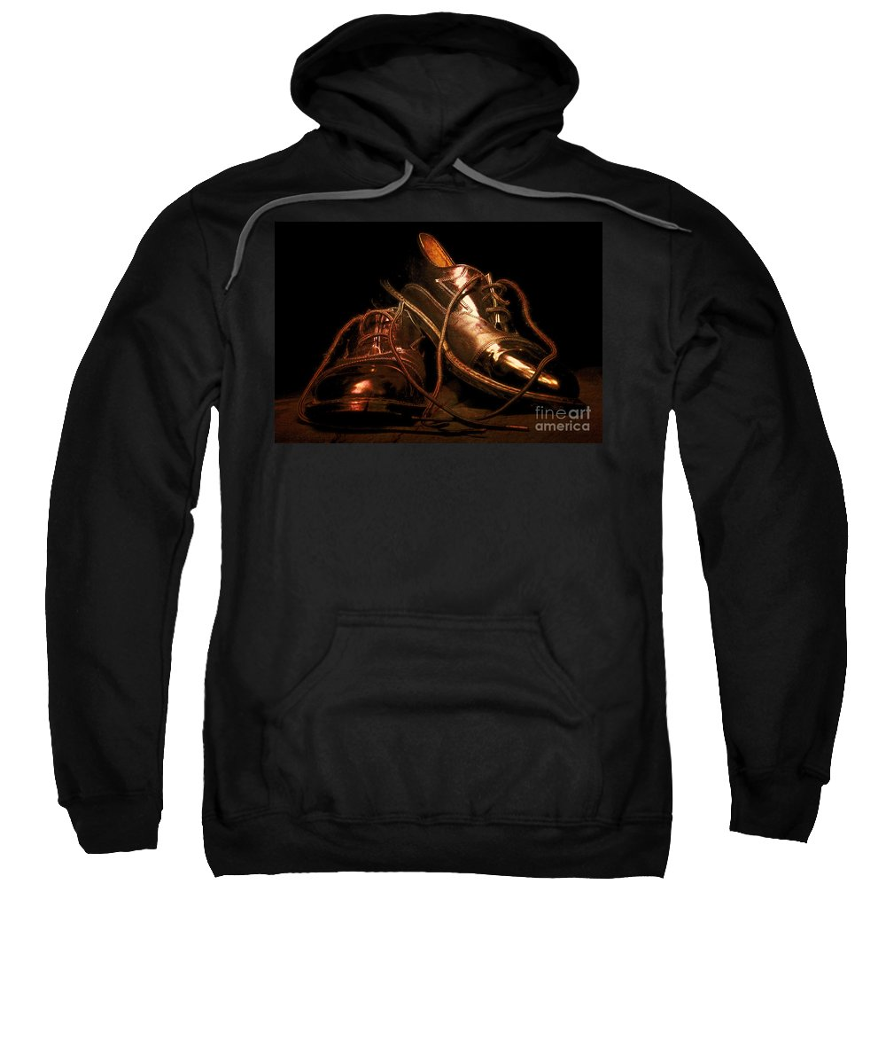 Dancing Shoes Sweatshirt featuring the photograph Dusty Dancing Shoes by Phill Petrovic