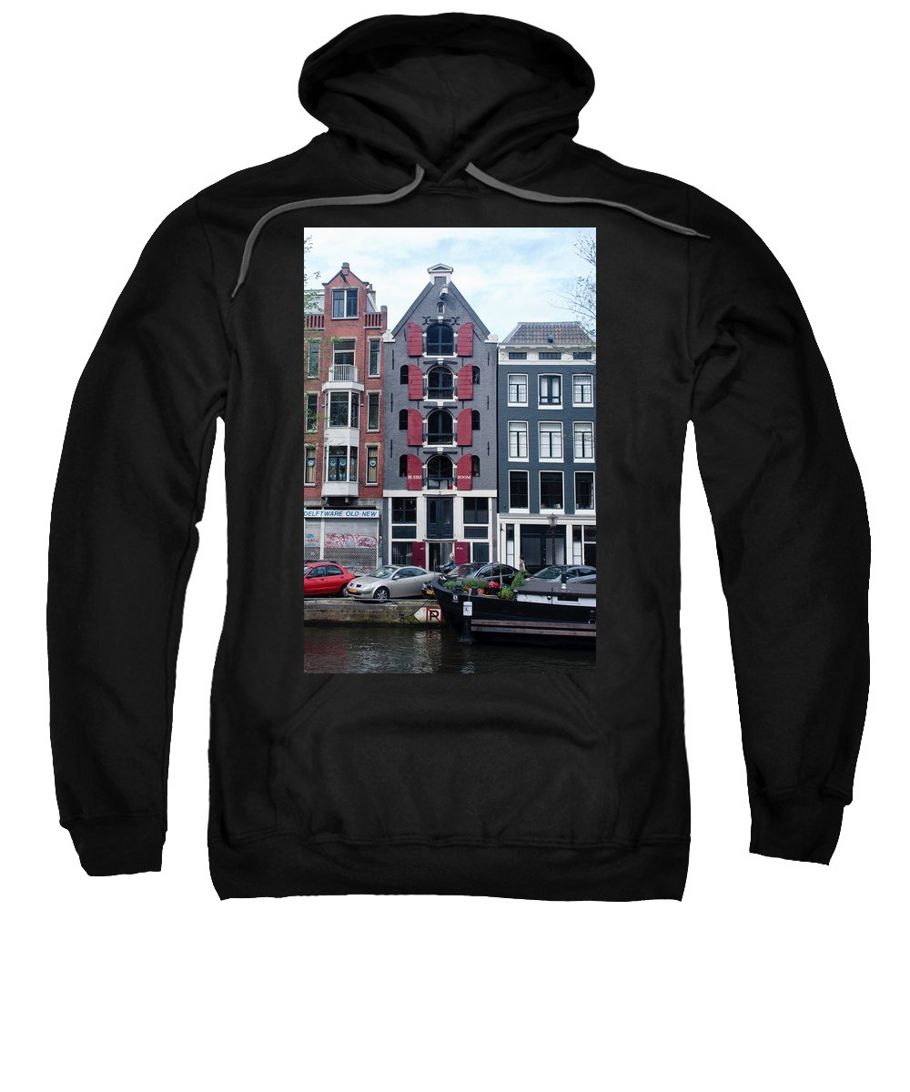Amsterdam Sweatshirt featuring the photograph Dutch Canal House by Thomas Marchessault