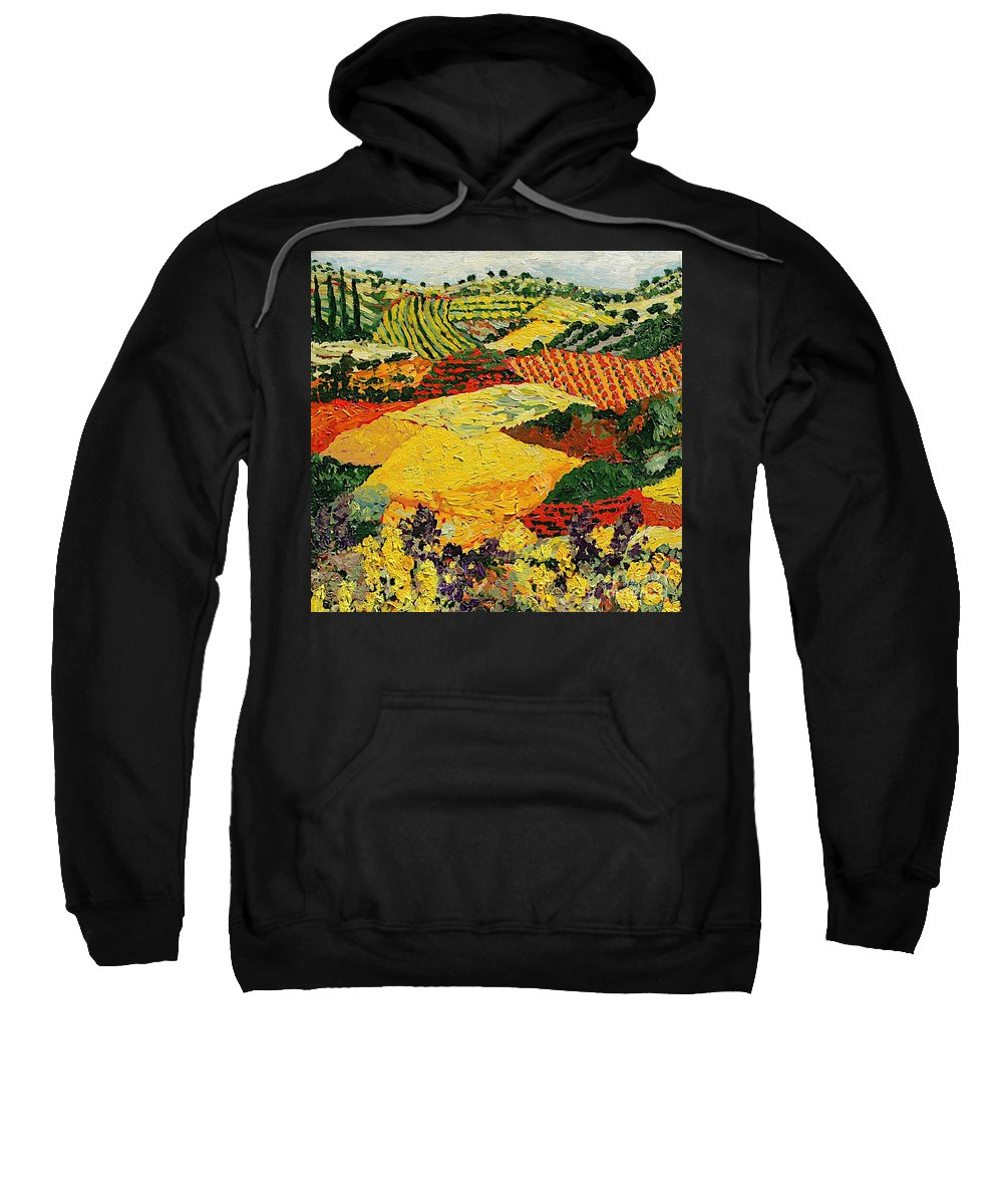 Landscape Sweatshirt featuring the painting Early Clouds by Allan P Friedlander