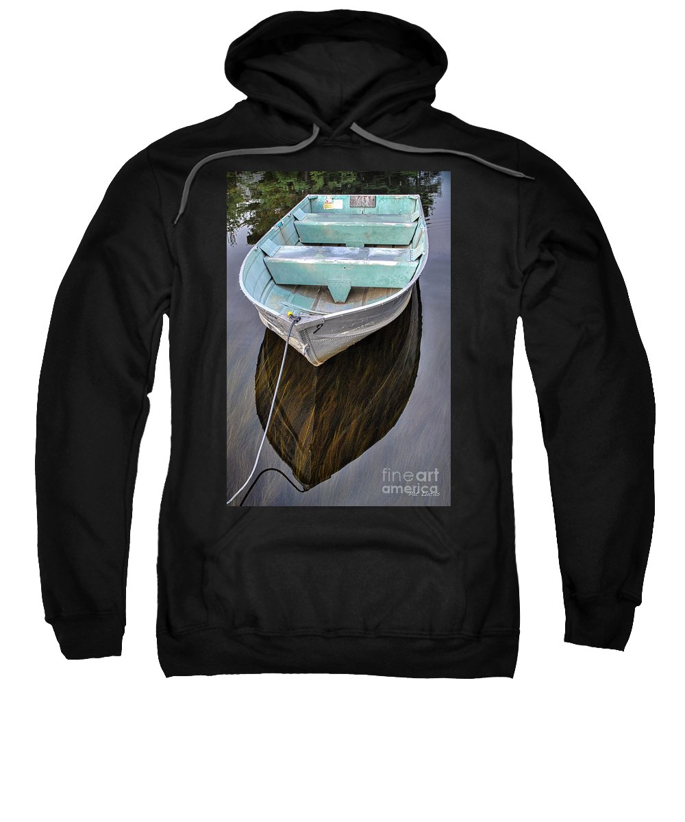 Boat Sweatshirt featuring the photograph Early Morning Dock by Pat Lucas