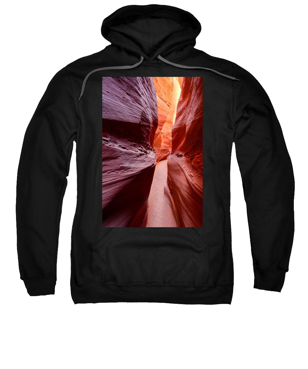 Desert Sweatshirt featuring the photograph Earth Slice by Michael Blanchette