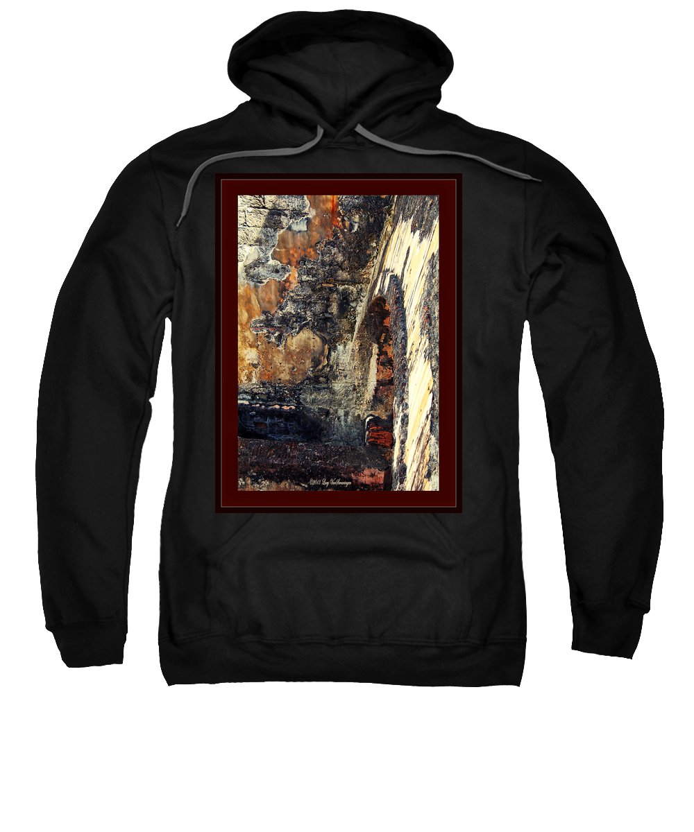 El Morro Sweatshirt featuring the photograph El Morro Arch With Border by Lucy VanSwearingen