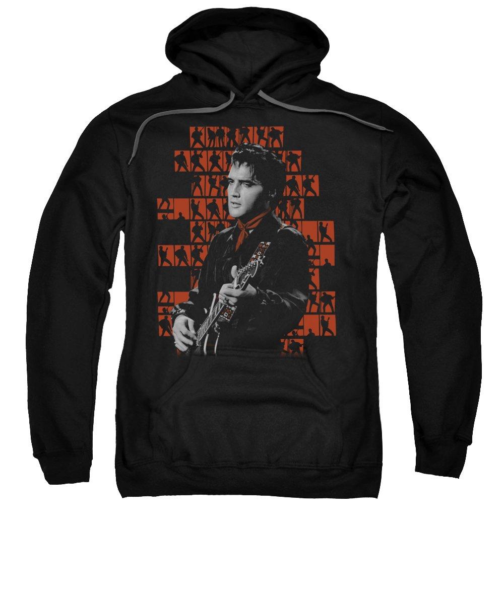 Elvis Sweatshirt featuring the digital art Elvis - 1968 by Brand A