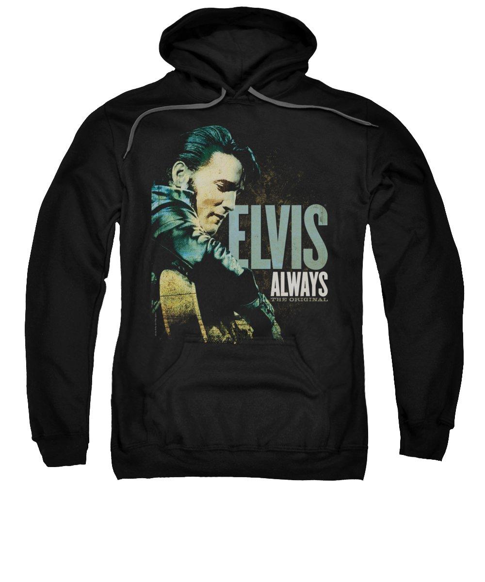 Elvis Sweatshirt featuring the digital art Elvis - Always The Original by Brand A