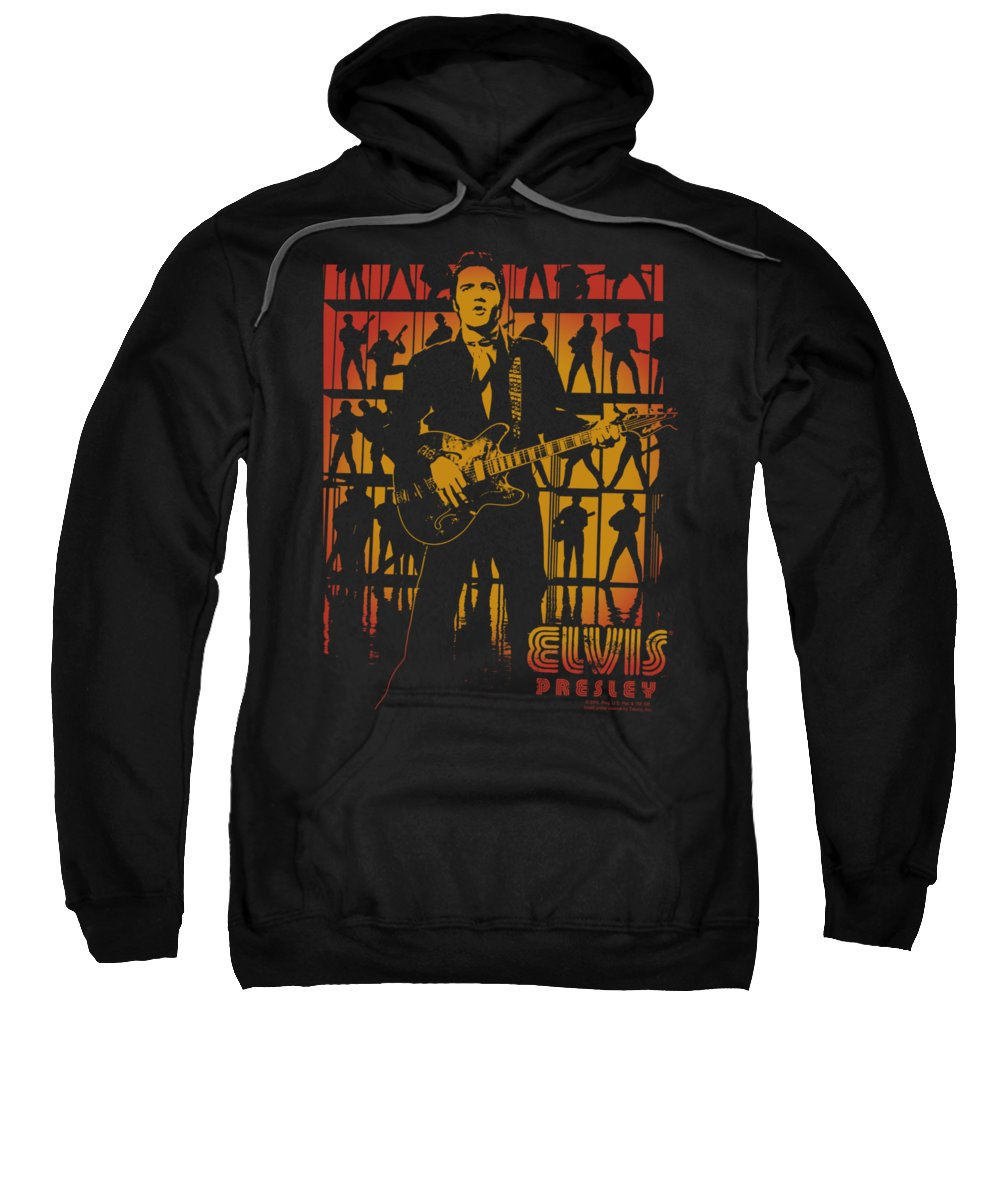 Elvis Sweatshirt featuring the digital art Elvis - Comeback Spotlight by Brand A