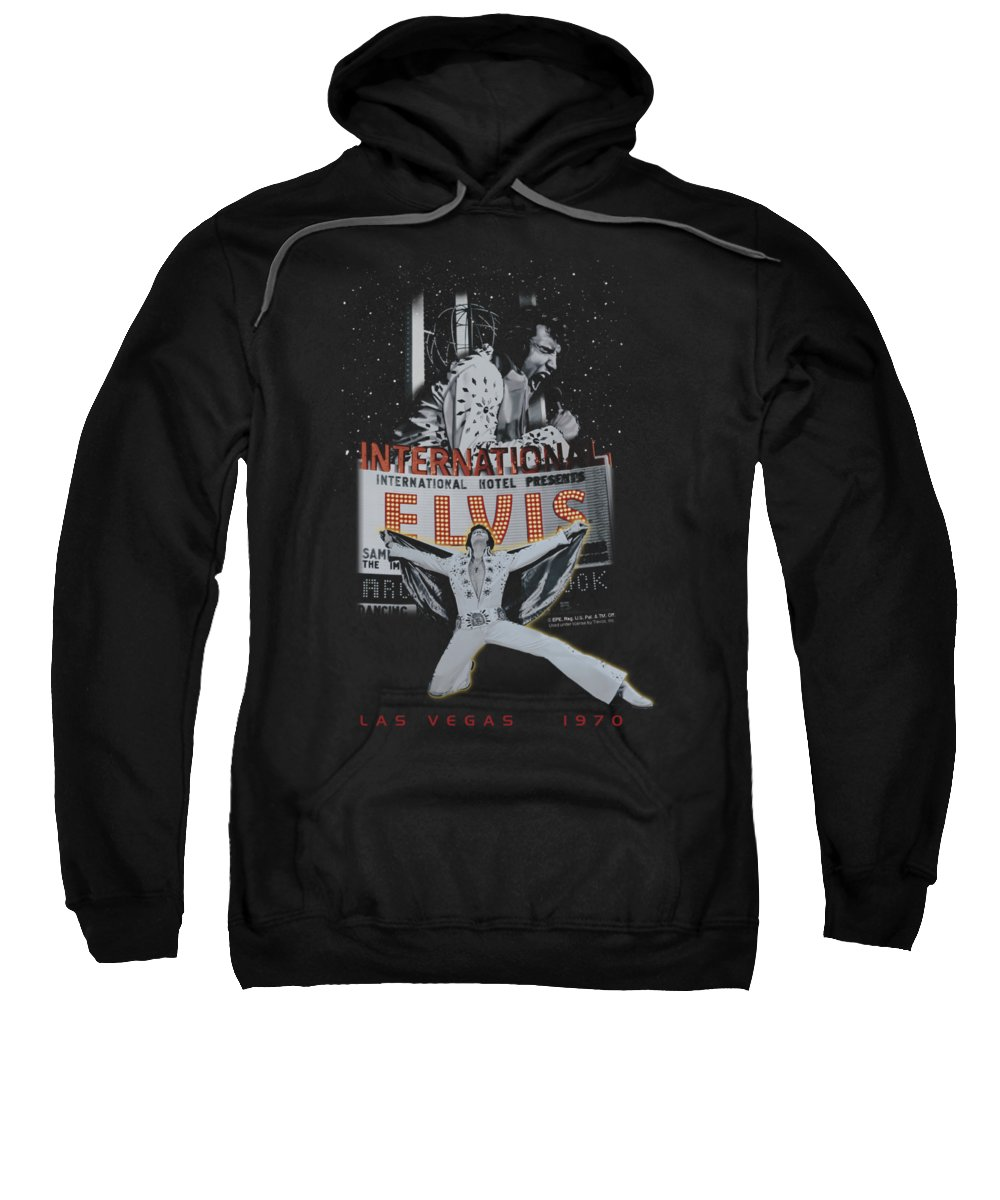 Elvis Sweatshirt featuring the digital art Elvis - Las Vegas by Brand A