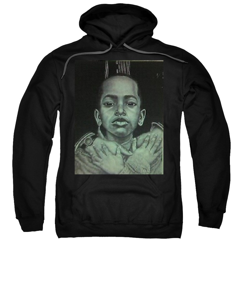 African American Sweatshirt featuring the painting Embrace by Arron Kirkwood