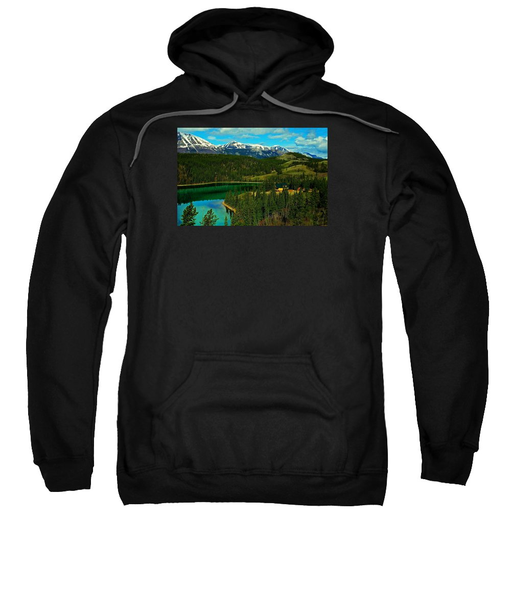 Emerald Sweatshirt featuring the photograph Emerald Lake - Yukon by Juergen Weiss