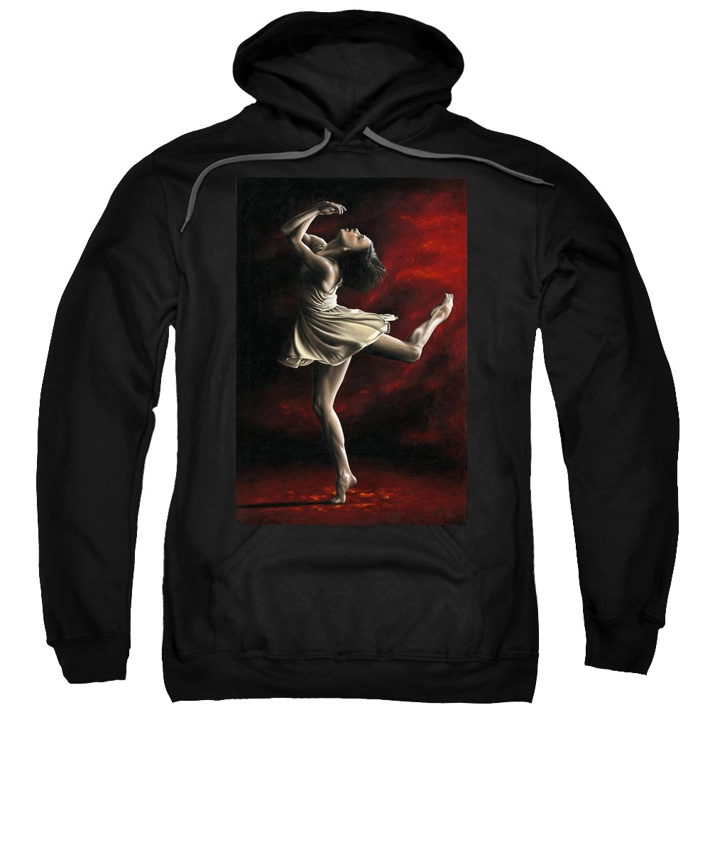 Dance Sweatshirt featuring the painting Emotional Awakening by Richard Young