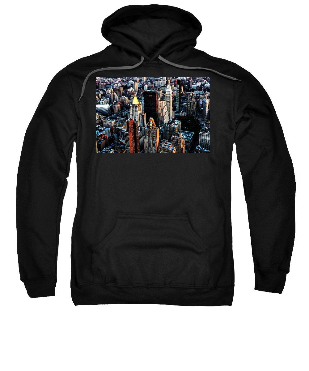 New York City Sweatshirt featuring the photograph Empire View by Digital Kulprits