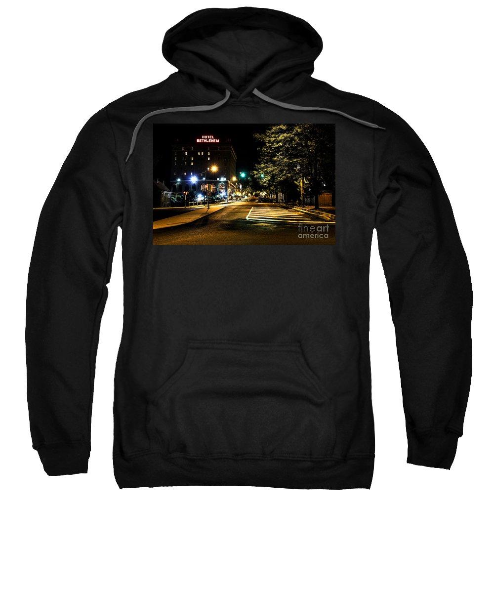 Bethlehem Sweatshirt featuring the photograph Along The Cobblestone by Digital Kulprits