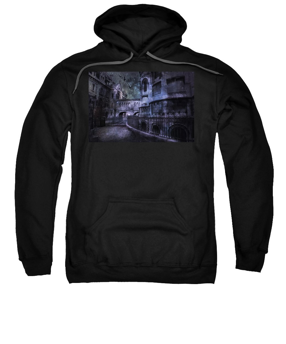 Evie Sweatshirt featuring the photograph Enchanted Castle by Evie Carrier