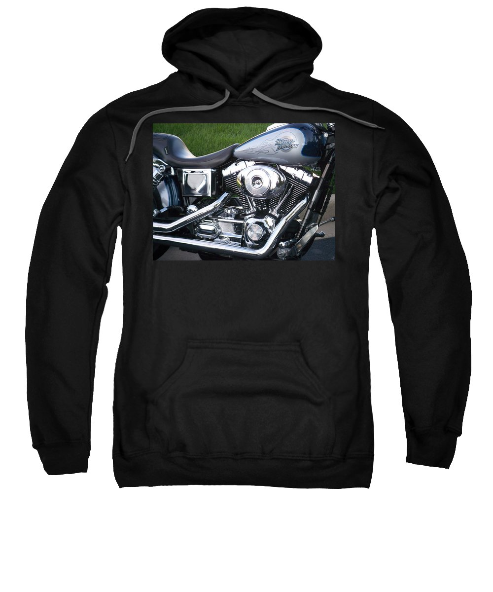 Motorcycles Sweatshirt featuring the photograph Engine Close-up 5 by Anita Burgermeister