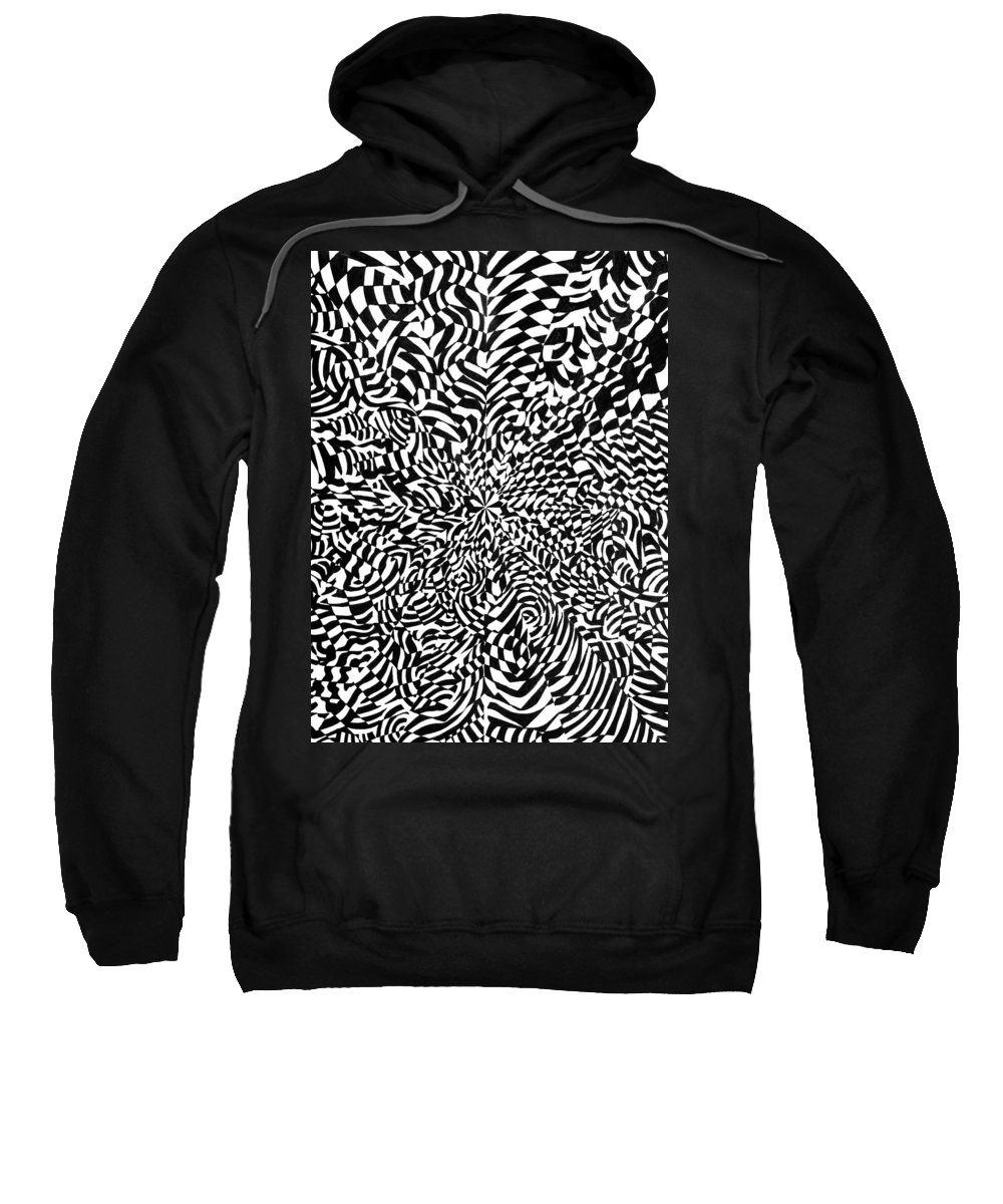 Abstract Sweatshirt featuring the drawing Entangle by Crystal Hubbard