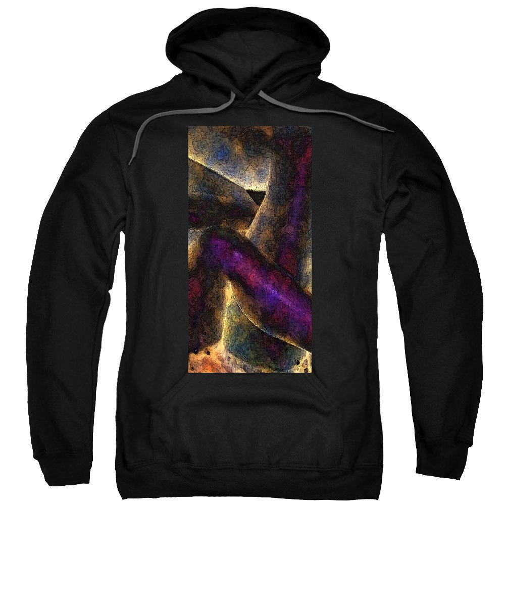 Digital Sweatshirt featuring the digital art Entwined by David Hansen