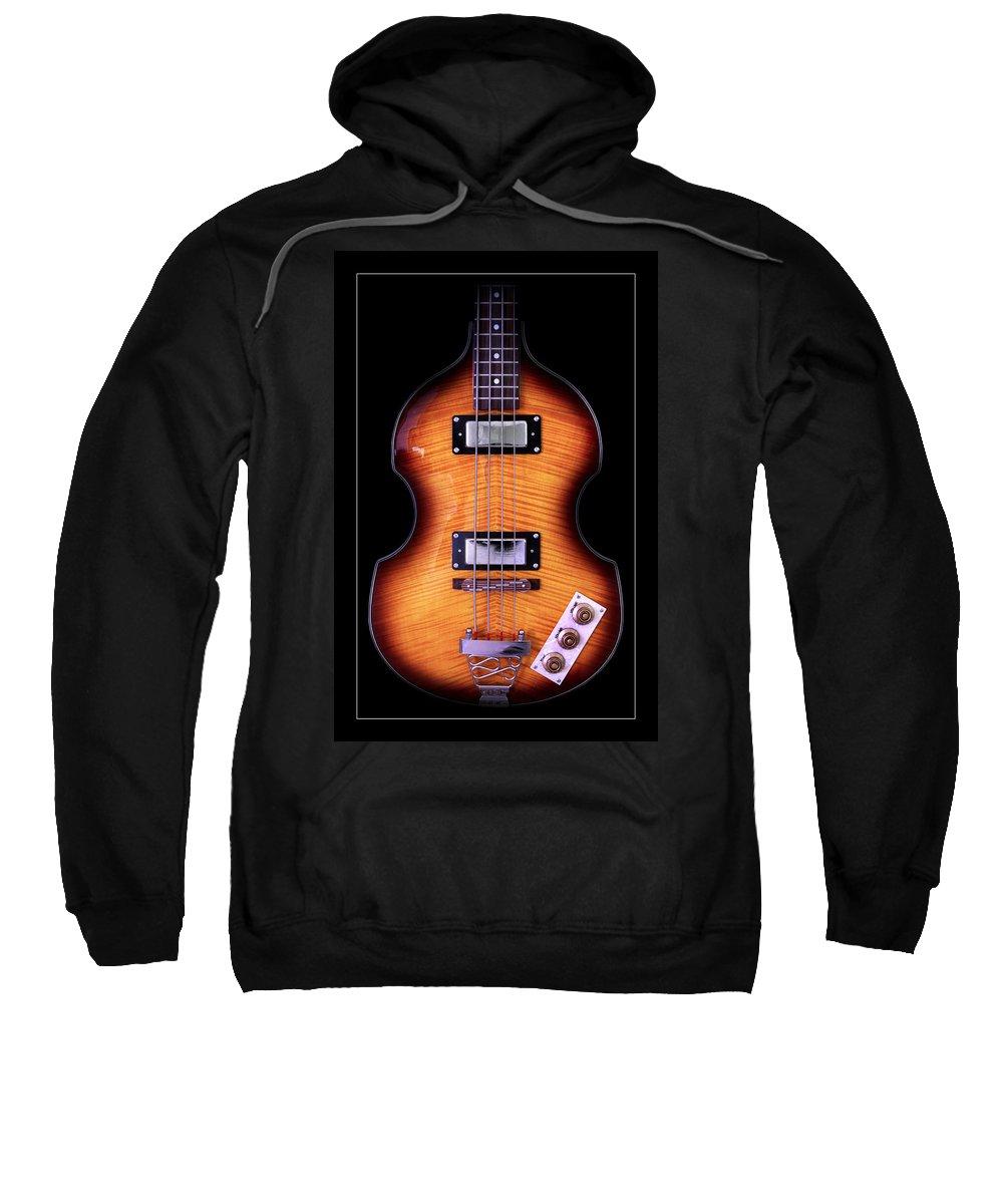 Bass Guitar Sweatshirt featuring the photograph Epiphone Viola Bass Guitar by John Cardamone