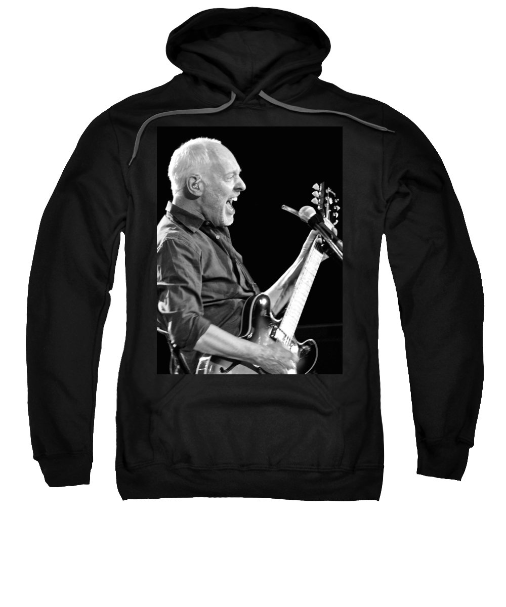 Eric Clapton Black And White Sweatshirt featuring the photograph Eric On Black by Alice Gipson